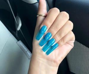 acrylics, nail polish, and girly inspiration image