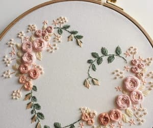 rose, beauty, and embroidery image