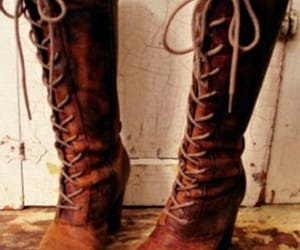 boots, brown, and brown boots image