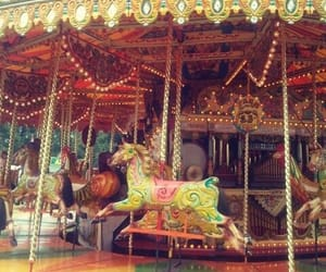 aesthetic, horses, and merry go round image
