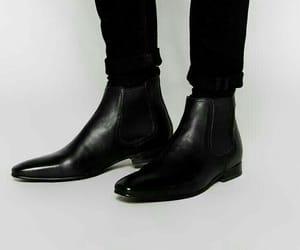 black, boots, and gentleman image