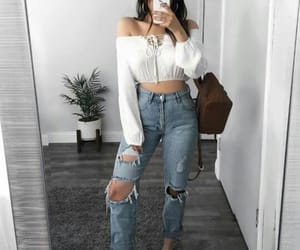 cropped, hairstyle, and fashion image