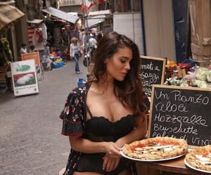 beauty, food, and girl image