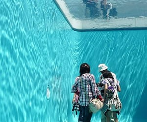swimming pool, under water, and art installation image