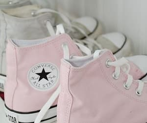all star, baby pink, and pink shoes image
