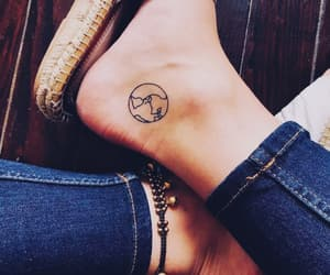 tattoo, feet, and world image