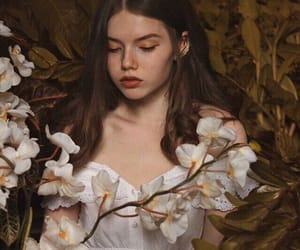 art, flowers, and beauty image