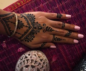 art, hand, and henna image