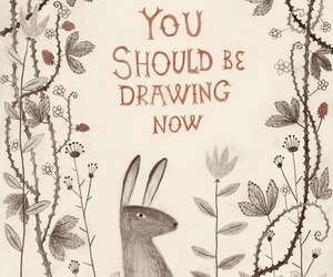 drawing, rabbit, and art image
