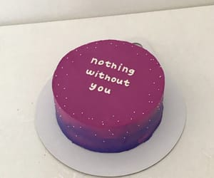 cake, purple, and eat image