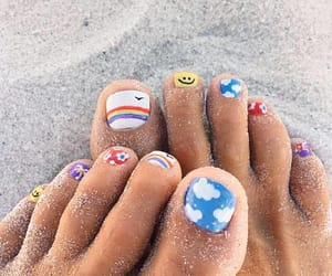 beach, nails, and relax image