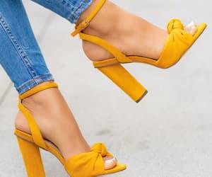 girl, high heels, and orange image