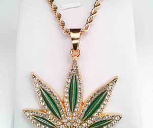 necklace, fashion accessories, and cannabis leaf image