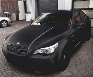 car, bmw, and black image