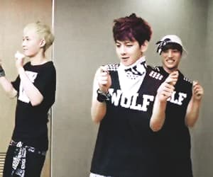 dacing, baekhyun, and exo image