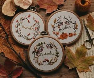 autumn, brown, and pumpkin image