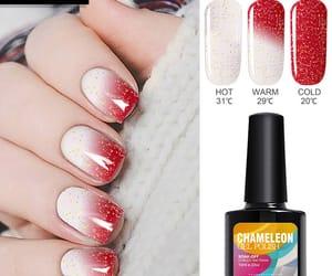 nail colour, nail polish, and uv image
