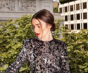 beauty, lily collins, and photoshoot image