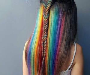 arco iris, trenza, and corte image