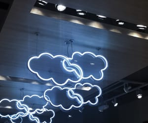 clouds and neon image
