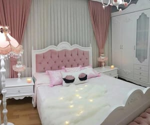 bedroom, bedroom decoration, and girly image