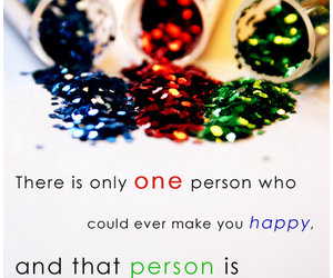 quote, you, and happy image