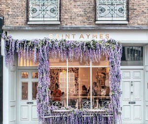 bakery, cafe, and flowers image
