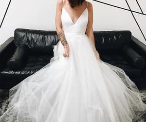 prom dress, wedding dress, and dresses image