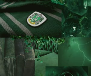 aesthetic, green, and harry potter image