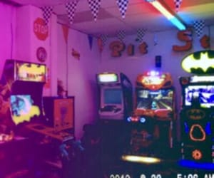 aesthetic, arcade, and purple image