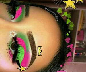 beauty, green, and lashes image