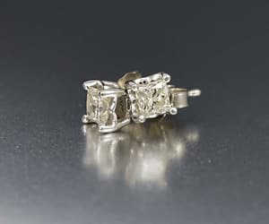 diamond, 14k, and earrings image