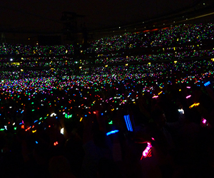 coldplay, glowing, and lights image