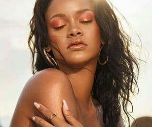 black girl, makeup, and rihanna image