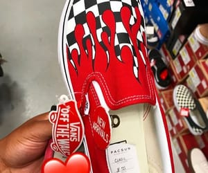 checkered, red, and shoes image