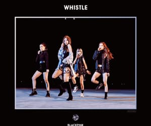 gif, black pink, and whistle image