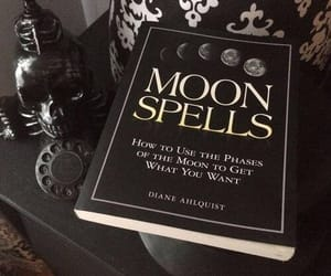 moon, spell, and witch image