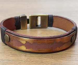 bracelet, leather, and anniversary gift image