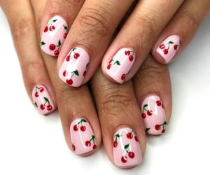 cherry, nails, and summer image