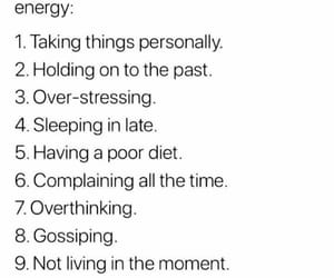 energy, habits, and healthy image