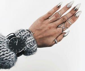 bracelet, nails, and knit image
