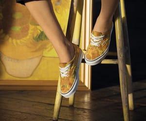 yellow, art, and vans image