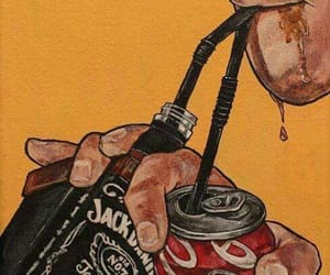 jack daniels, coca cola, and drink image