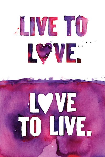 love to live and live to love essay