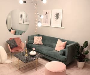 aesthetic, living room, and pink image