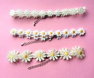 chokers, flowers, and pink image