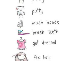 girl and morning routine image