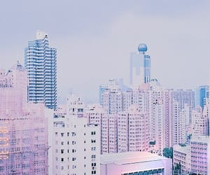 city, pink, and pastel image