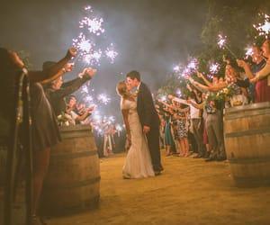 bride, groom, and kiss image