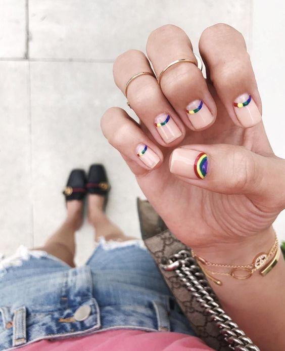 rainbow, beauty, and nails image